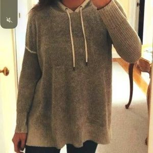 American Eagle Gray Pullover with Hood